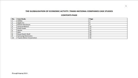 Trans-National Companies Case Studies