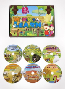 WINK to LEARN Animal Encyclopedic 6-DVDs English