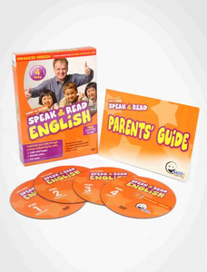 WINK to LEARN - Speak & Read English 4-DVDs Program (Includes USA & UK English)