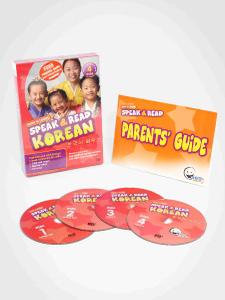WINK to LEARN - Speak & Read Korean 4-DVDs Program