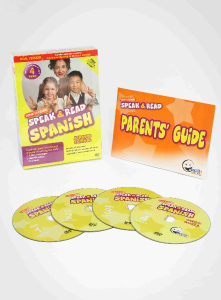 WINK to LEARN - Speak & Read Spanish 4-DVDs Program (Includes Continental & Mexican Spanish)
