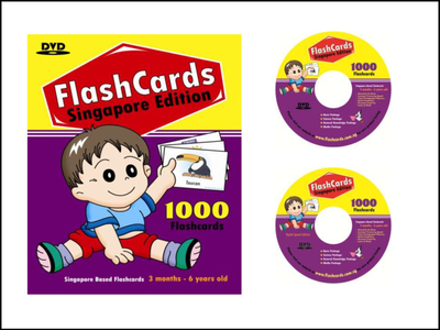 1000 Flash Cards in DVD