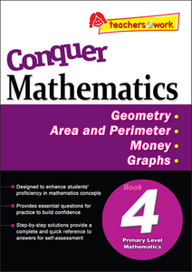 Conquer Mathematics Geometry - Area and Perimeter - Money - Graphs Book 4