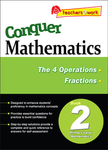 Conquer Mathematics The 4 Operations - Fractions Book 2