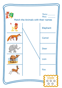Match the Word - Wild Animals