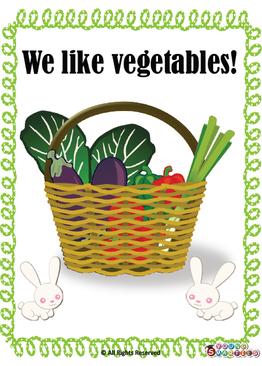 We like vegetables! {Printables}