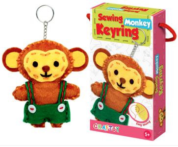 Sewing Keyring Monkey