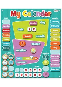 Large Magnetic Calendar Blue