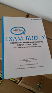 Exam Buddy Additional Mathematics Book 1 (4th Ed.) Syllabus 4047