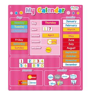 Large Magnetic Calendar Pink