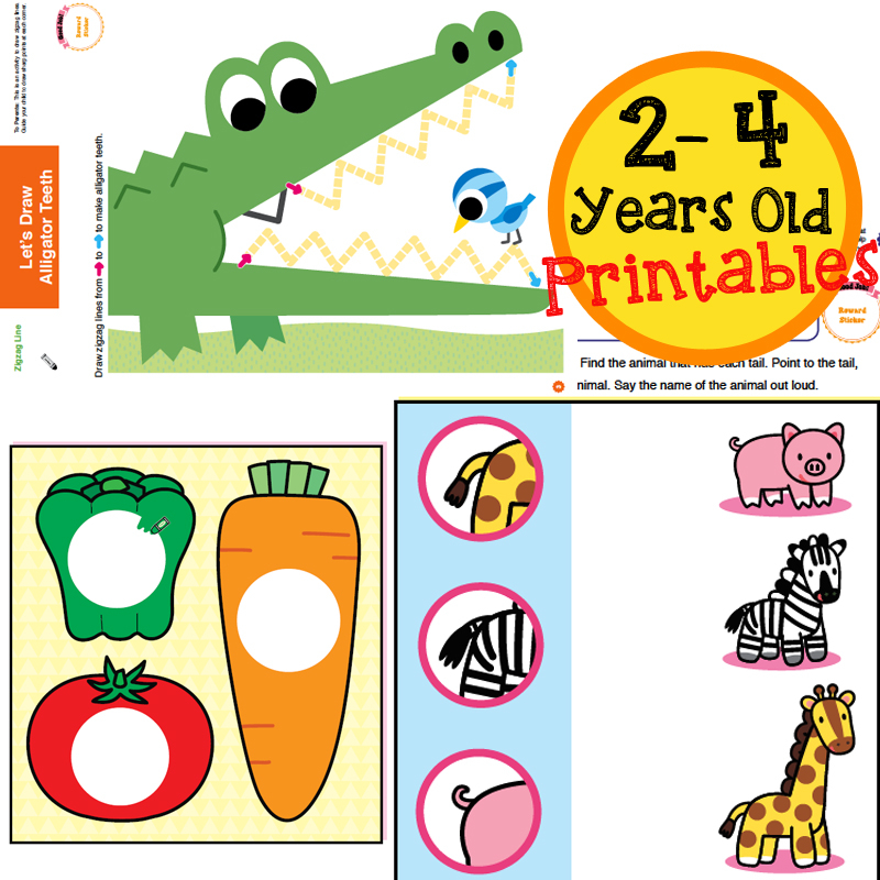 Go Go Series Printables 2-4 Years Old   OpenSchoolbag