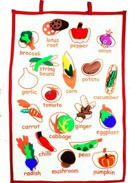Veggielicious Fabric Hanging Chart