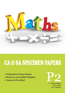 PRIMARY TWO MATHS CA & SA SPECIMEN PAPERS