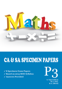 PRIMARY THREE MATHS CA & SA SPECIMEN PAPERS