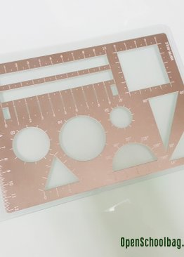Metal Mathematics Multi-Ruler + Model Drawing
