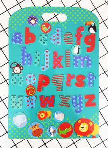 Wild Animal Alphabet Board Stickabouts