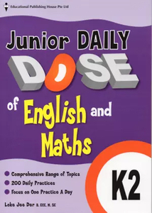 Junior Daily Dose of English and Mathematics K2