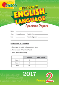 Primary 2 New Format English Language Specimen Paper