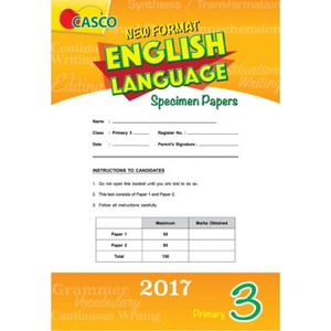 Primary 3 New Format English Language Specimen Paper