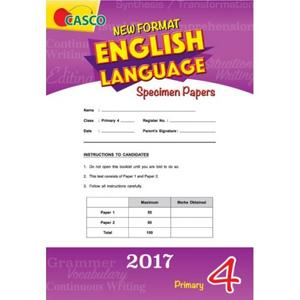 Primary 4 New Format English Language Specimen Paper P4