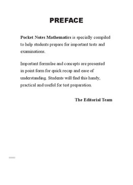 Pocket Notes Mathematics