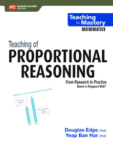 Teaching to Mastery Mathematics: Teaching of Proportional Reasoning