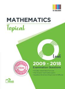 TYS O Level Mathematics (Topical) Qns + Ans 2009 - 2018
