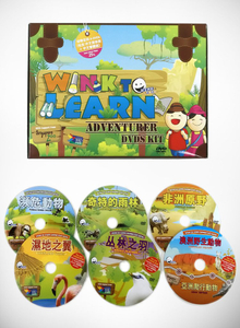 WINK to LEARN Animal Encyclopedic 6-DVDs Chinese
