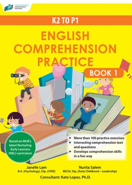K2 to P1 English Comprehension Practice Book 1