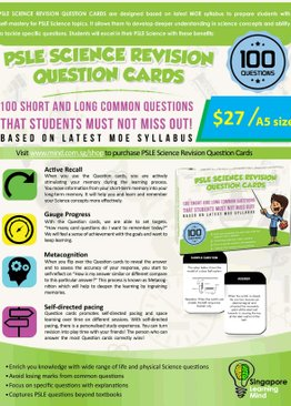 PSLE SCIENCE REVISION QUESTION CARDS