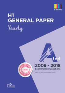 TYS A Level H1 General Paper Qns 2009 - 2018