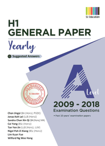 TYS A Level H1 General Paper Ans 2009 - 2018