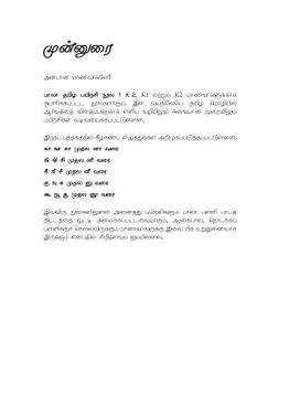Kindergarten 2 Tamil