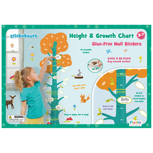 Height Chart Tree - Reusable Glue-free