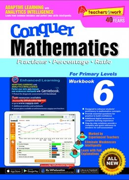 Conquer Mathematics Fractions Percentage Ratio Book 6