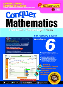 Conquer Mathematics Fractions Percentage Ratio Book 6