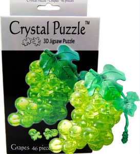 3D Crystal Puzzle Green Grape