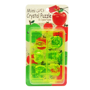 3D Crystal Puzzle Mini Green Apple