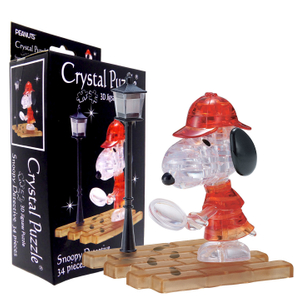 3D Crystal Puzzle Snoopy Detective