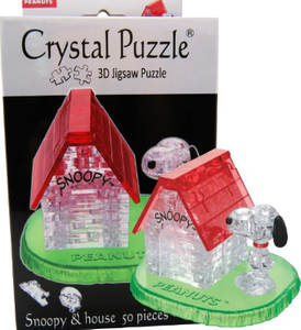 3D Crystal Puzzle  Snoopy with house