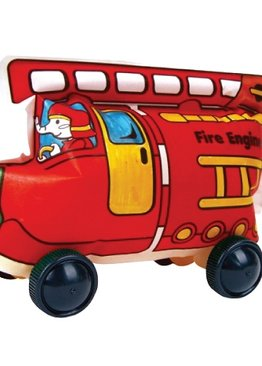 Creative Play N Learn Party Gift Craft Colorloon Colour and Inflate 3D Vehicle DIY Kit Fire Engine