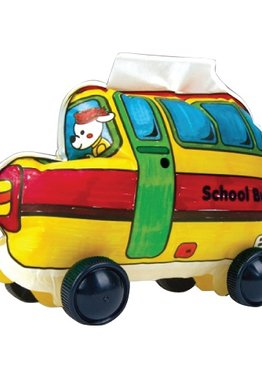 Creative Play N Learn Party Gift Craft Colorloon Colour and Inflate 3D Vehicle DIY Kit School Bus