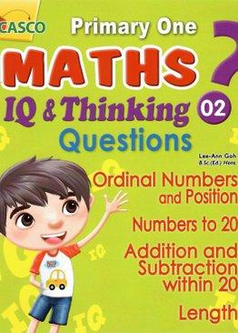 P1 Maths IQ & Thinking Questions Book 2