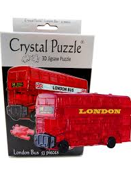3D Crystal Puzzle London Bus