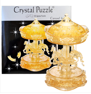 3D Crystal Puzzle - Gold Carousel