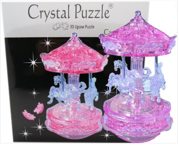 3D Crystal Puzzle Pink Carousel 3D Crystal Puzzle Pink Carousel