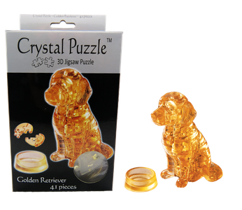 3D Crystal Puzzle Golden Retriever