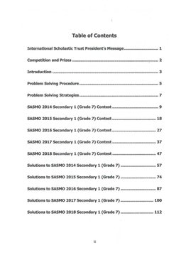 Singapore & Asian Schools Maths Olympiad Sec 1 (2014-2018)