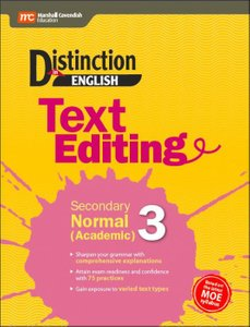 Distinction in English: Text Editing Secondary Normal (Academic) 3