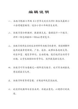 Intensive Exercises For Primary Six 6A 欢乐伙伴每课一练强化练习